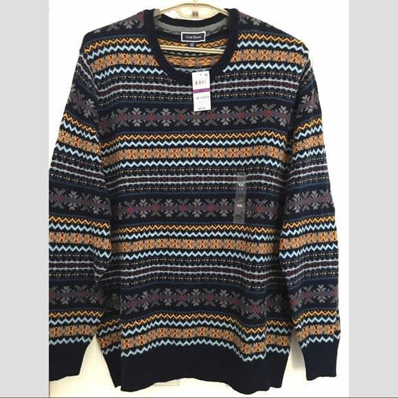 Club Room Crew Neck Sweater Multi striped XXL NWT NWT